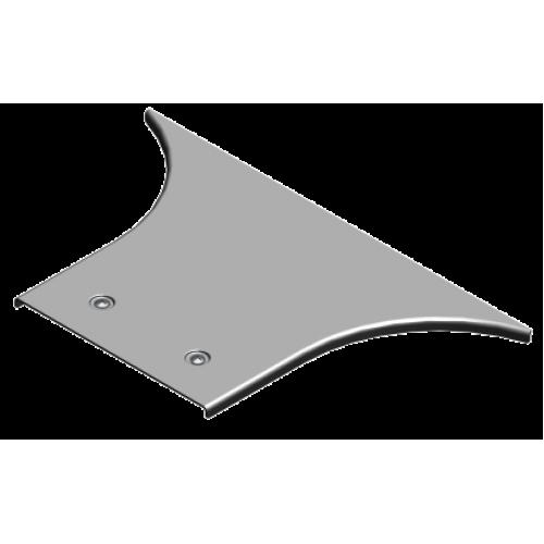 Крышка приставного тройника с замком PZTKZDC 400x2.0мм