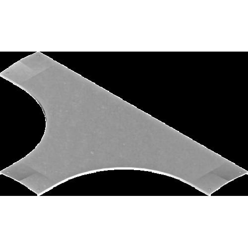 Крышка тройника с замком PZTDP 400x1.5мм