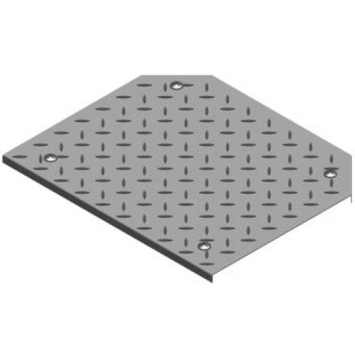 Крышка тройника лотка рифленая с замком PZTKRT 100x3.0мм