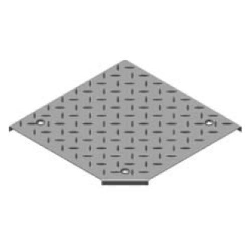 Крышка угольника 90° рифленая с замком PZKKRT 500x3.0мм