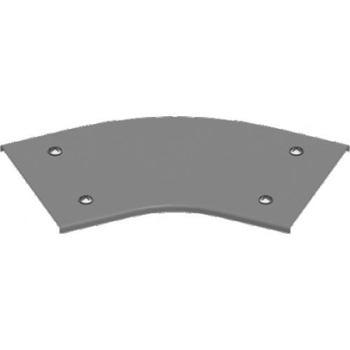 Крышка угла 45° с замком PZKKZMC 600x2.0мм