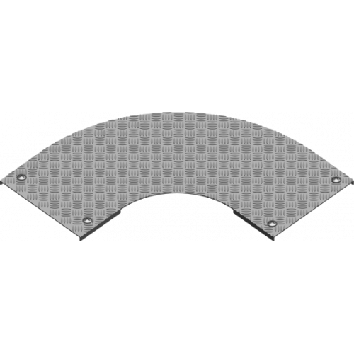 Рифленая крышка угла 90° с замком PZKZRT 400x3.0мм