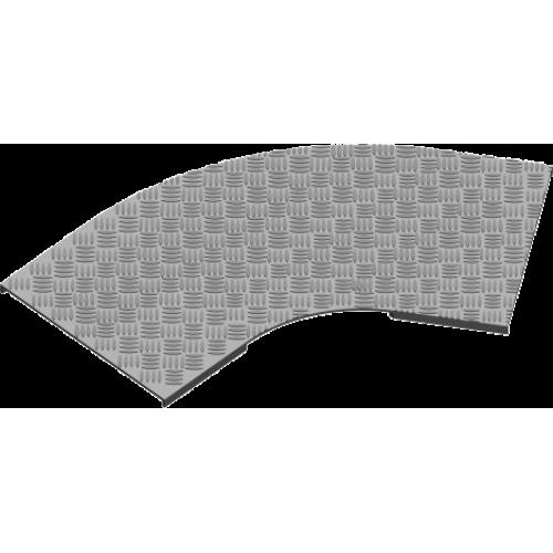 Рифленая крышка угла 45° с замком PZKZMRT 500x3.0мм