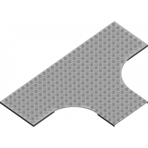 Рифленая крышка тройника с замком PZTKZRT 500x3.0мм