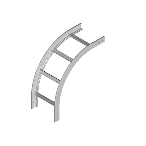 Вертикальная внешняя дуга кабельроста LPDZC 600x50x2.0мм