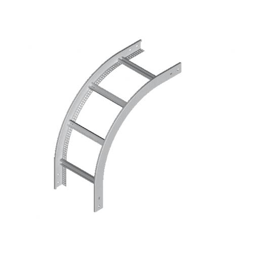 Вертикальная внешняя дуга кабельроста LPDZC 400x60x2.0мм