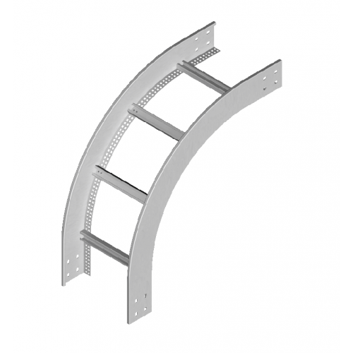 Вертикальная внешняя дуга кабельроста LPDZP 500x80x1.5мм