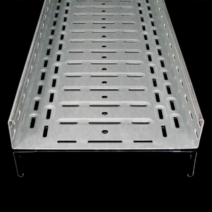 Кабельный лоток с интегрированным соединением - неперфорированный, 60X100, 1,5 mm