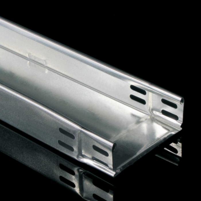Кабельный лоток с интегрированным соединением - неперфорированный, 60X100, 0,75 mm