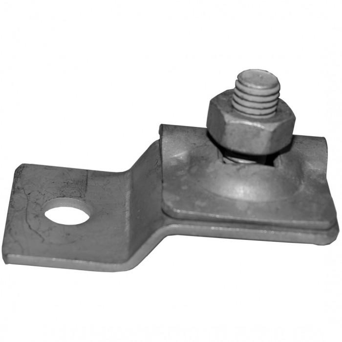 Зажим проволоки к металлическим конструкциям, с отступом, нерж.сталь
