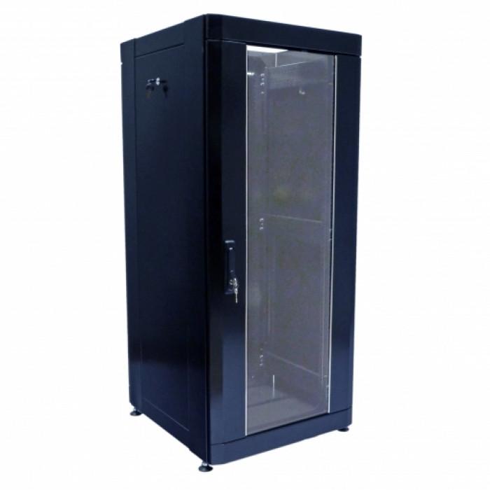 """Шкаф 19"""" 28U, 610х675 мм (Ш*Г), усиленный, черный"""