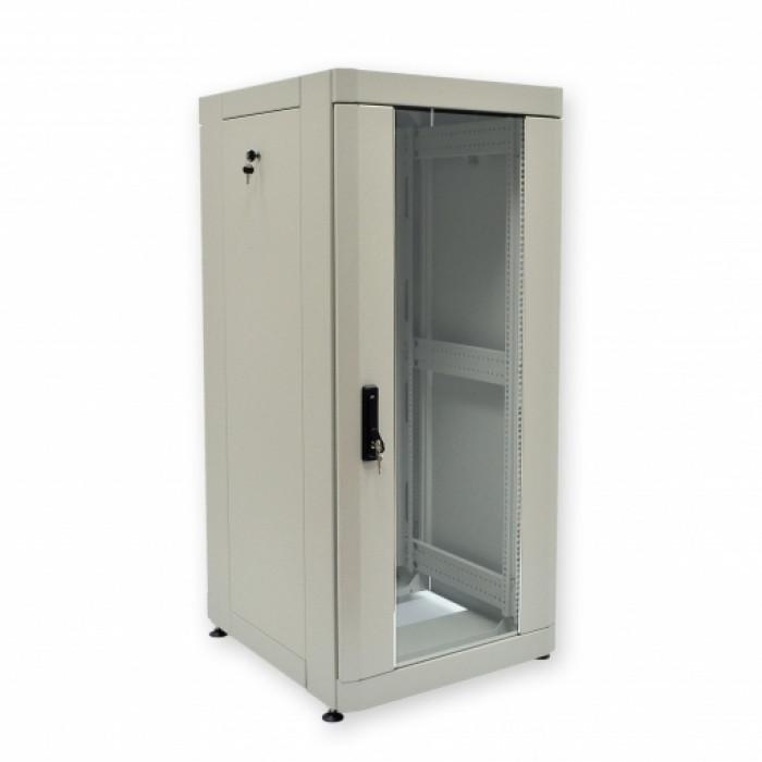 """Шкаф 19"""" 24U, 610х675 мм (Ш*Г), усиленный, серый"""