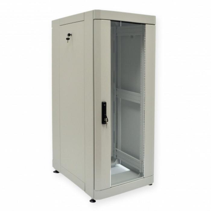"""Шкаф 19"""" 28U, 610х865 мм (Ш*Г), усиленный, серый"""
