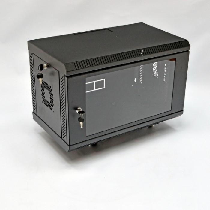 Шкаф 6U, 600х350х373мм (Ш*Г*В), акриловое стекло, черный
