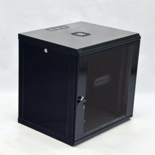 Шкаф 12U, 600х600х640мм (Ш*Г*В), эконом, акриловое стекло, черный.