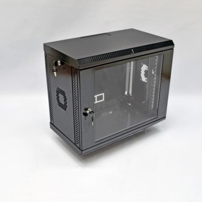 Шкаф 9U, 600х350х507мм (Ш*Г*В), акриловое стекло, черный