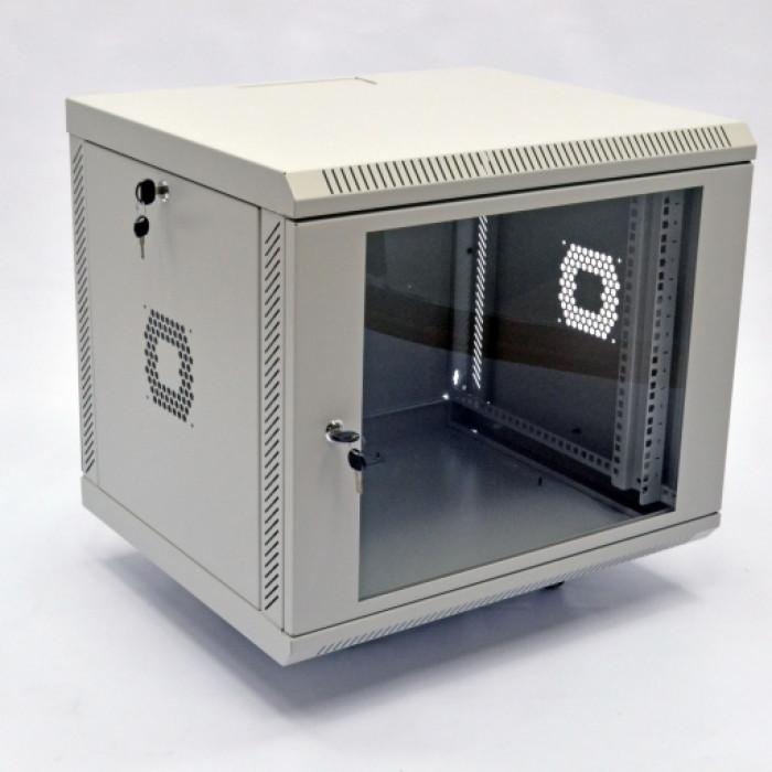 Шкаф 9U, 600х350х507мм (Ш*Г*В), акриловое стекло, серый