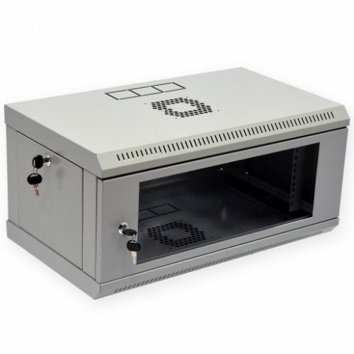 Шкаф 4U, 600х350х284мм (Ш*Г*В), эконом, акриловое стекло, серый.