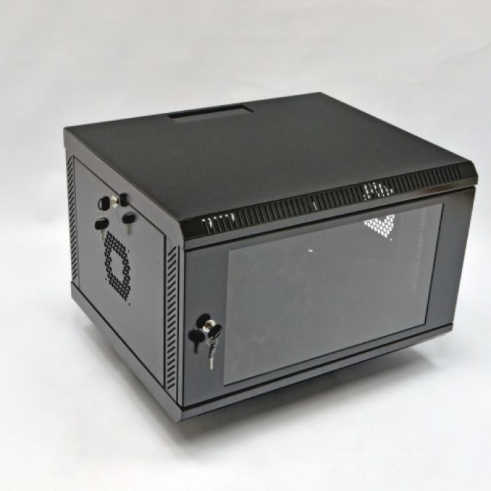 Шкаф 6U, 600х500х373мм (Ш*Г*В), акриловое стекло, черный