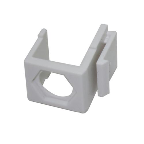 Заглушка порта KeyStone з отвором для TV конектора, LW, біла