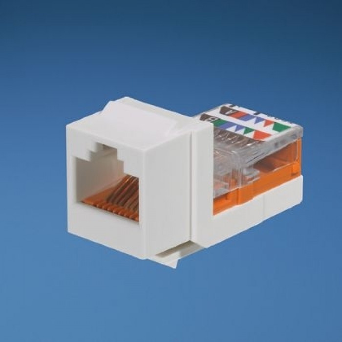 Модуль Keystone RJ45, кат. 5e, UTP, белый, Panduit NetKey