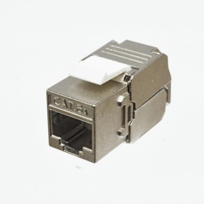 Модуль KeyStone RJ45 STP, кат. 6a, Slim, LW
