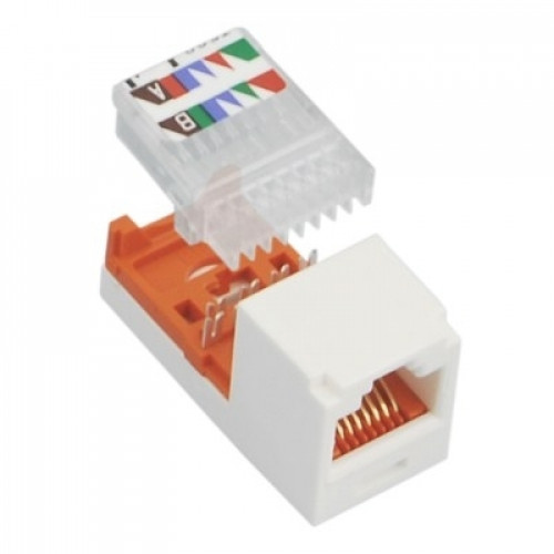 Модуль Mini-Com RJ45 UTP, кат.5е, белый, Leadframe Style