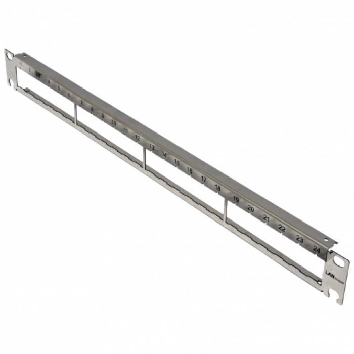 Патч панель 1U 24 порта для модулей Corning FutureCom, нержавеющая сталь, без модулей