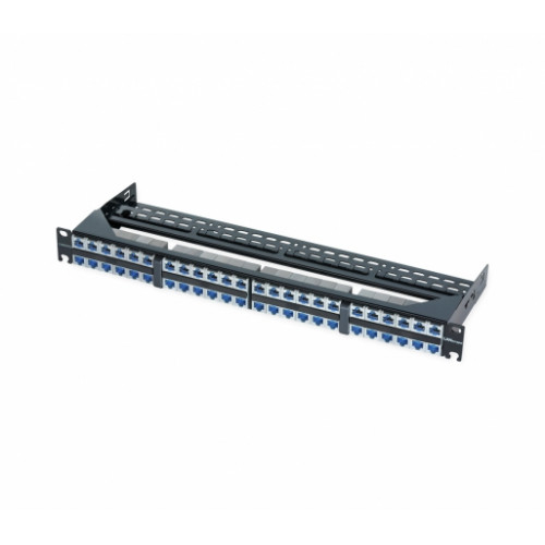"Патч-панель на 48 портов с модулями S500 FutureCom 6A, 1U, 19 "", черная, Corning"