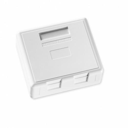 Розетка внешняя для 2-х модулей FutureCom, 75Х65, прямая, белая