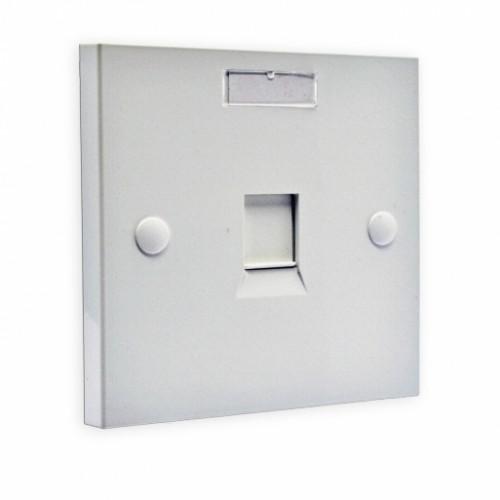 Рамка 86×86 под один модуль KeyStone, с шторкой, EPNew