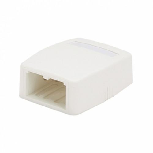 Коробка внешняя на 2 модуля Mini-Com, без модулей, белоснежная