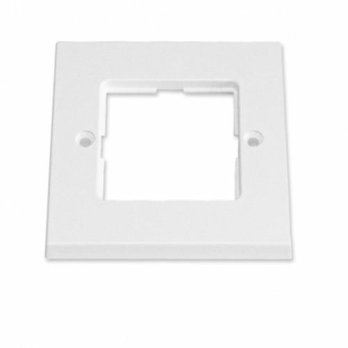 Рамка для пластин LANSape, 87х87 мм, белая, RAL9010, UK style
