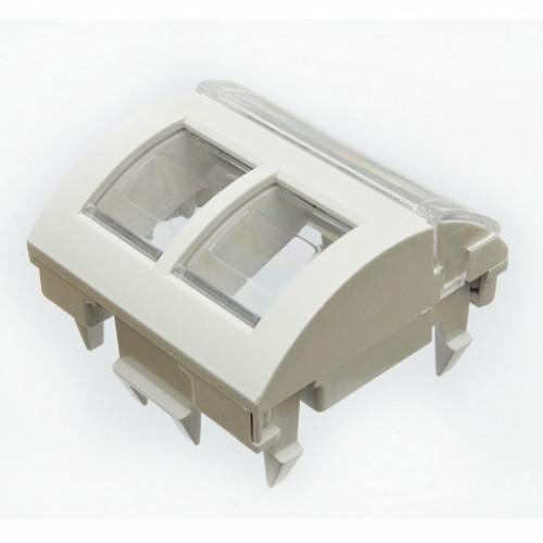 Адаптер 45 x 45 под два модуля xs500 FutureCom™ Keystone, Corning