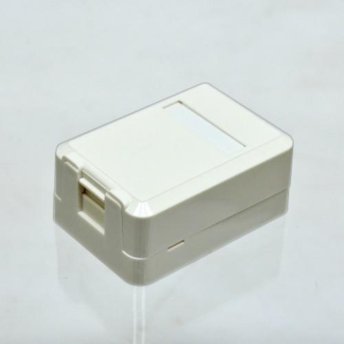 Розетка настенная для 1хRG45 без модулей KeyStone, Kingda