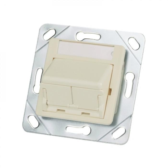 Адаптер 50x50 на 2 модуля Mini-Com с кр. от пыли Panduit