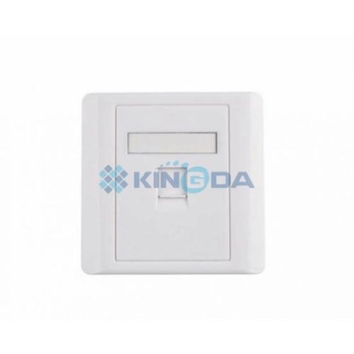 Рамка 86×86 под один модуль KeyStone,со шторкой, Kingda