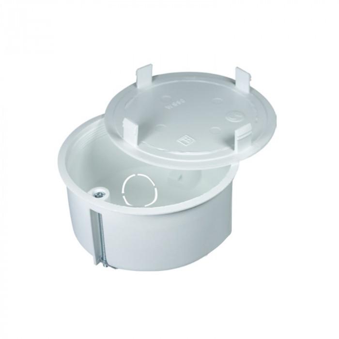 Коробка соединительная, под гипсокартон белая, d83мм h49мм, 60шт уп.