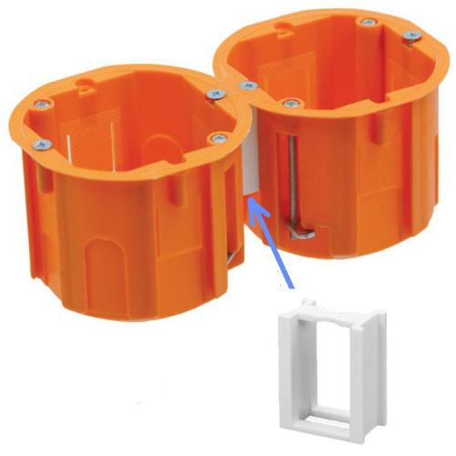 Соединительный элемент для подрозетников FLE-A0040, FLE-A007А, FLE-A0040А, расст 71 мм