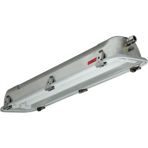 Взрывобезопасный светильник Rino-EX для 2x18Вт Т8, нерж. сталь, электронный, IP66, Зоны: 1-2-21-22, Palazzoli (Lewden)