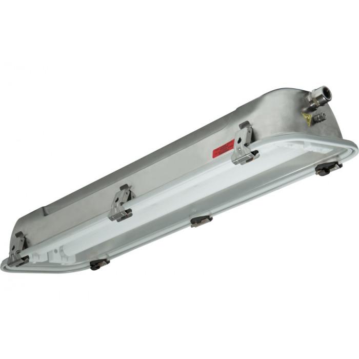 Взрывобезопасный светильник Rino-EX для 2x36Вт Т8, нерж. сталь, электронный, IP66, Зоны: 1-2-21-22, Palazzoli (Lewden)