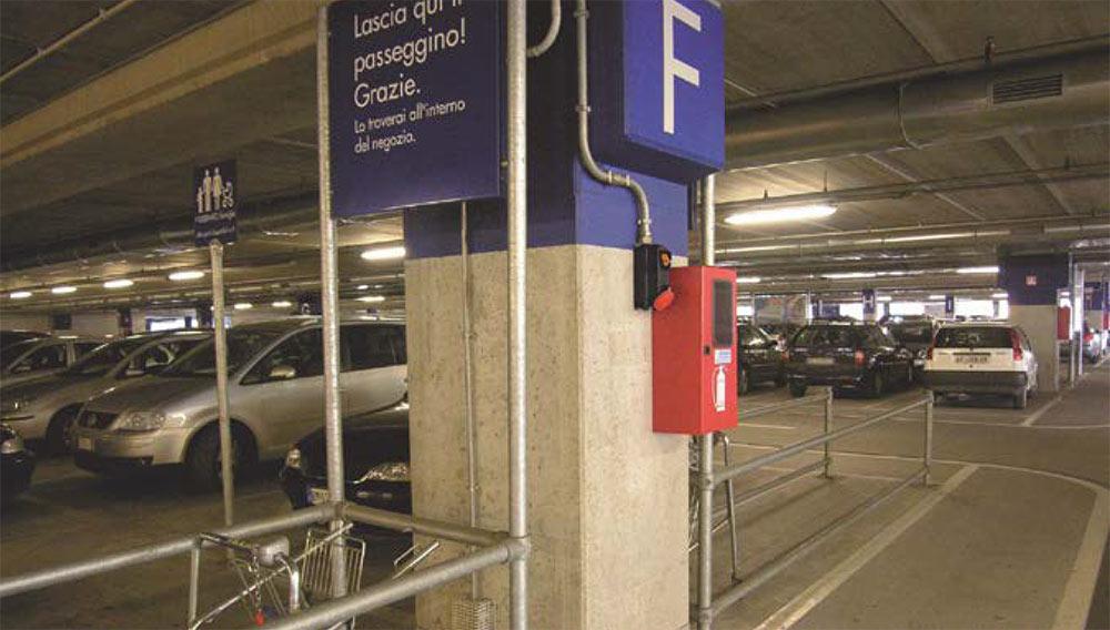 Использование системы металлических(стальных) электротехнических труб Stilma(Стилма) на паркинге